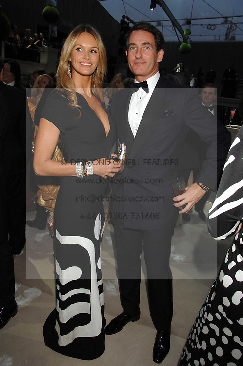 ELLE MACPHERSON & TIM JEFFERIES at the Ark 2007 charity gala at Marlborough House, Pall Mall, London SW1 on 11th May 2007.<br />