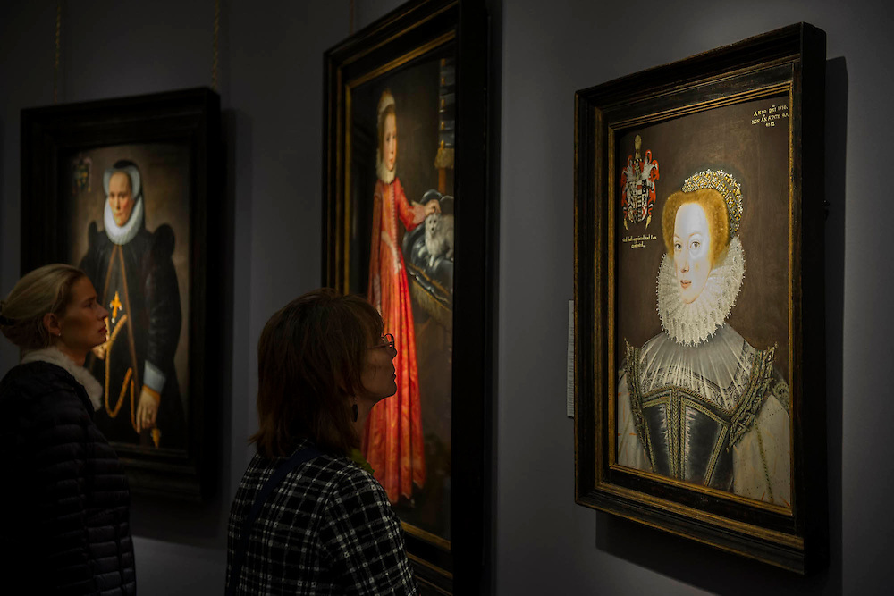 Works form the 16th and 17th centuries -  Frieze Masters 2014 - including a huge range of works from religious relics, through old masters to contemporary art with prices upto millions of pounds. Regents Park, London, 14 Oct 2014.