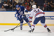 Marlies forward Kasperi Kapanen shoots on goal during a game against the Rochester Americans in Rochester, New York, USA on Friday, December 4, 2015.