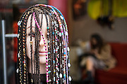 A mannequin with braided hair dreadlock style