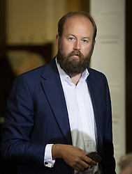 © Licensed to London News Pictures. 30/06/2016. London, UK. Nick Timothy Theresa May's campaign manager is seen at her Conservative party leadership bid launch. Boris Johnson and Michael Gove are expected to launch seperate campaigns later today.Photo credit: Peter Macdiarmid/LNP