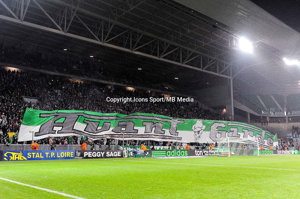 Supporters Saint Etienne - 05.12.2014 - Saint Etienne / Bastia - 17eme journee de Ligue 1 -<br />Photo : Jean Paul Thomas / Icon Sport