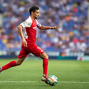 BARCELONA, SPAIN - August 18:  Jesus Navas #16 of Sevilla in action during the Espanyol V  Sevilla FC, La Liga regular season match at RCDE Stadium on August 18th 2019 in Barcelona, Spain. (Photo by Tim Clayton/Corbis via Getty Images)