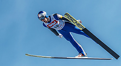 28.01.2017, Casino Arena, Seefeld, AUT, FIS Weltcup Nordische Kombination, Seefeld Triple, Skisprung, im Bild Philipp Orter (AUT) // Philipp Orter of Austria in action during his Competition Jump of Skijumping of the FIS Nordic Combined World Cup Seefeld Triple at the Casino Arena in Seefeld, Austria on 2017/01/28. EXPA Pictures © 2017, PhotoCredit: EXPA/ JFK