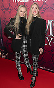 2019, December 01. Pathe ArenA, Amsterdam, the Netherlands. Mylene Waalewijn and Rosanne Waalewijn at the dutch premiere of The Addams Family.