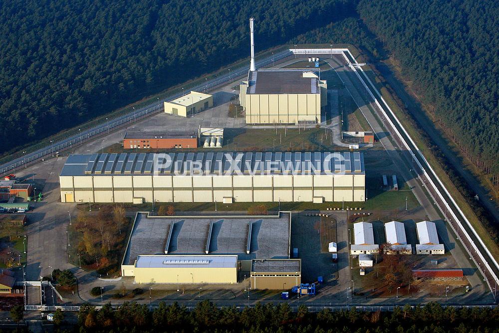 Luftaufnahme des Zwischenlagers f&uuml;r hochradioaktiven Atomm&uuml;ll in Gorleben.<br /> <br /> Ort: Gorleben<br /> Copyright: Andreas Conradt<br /> Quelle: PubliXviewinG
