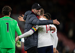 BOURNEMOUTH, ENGLAND - Saturday, December 7, 2019: Liverpool's manager Jürgen Klopp celebrates with captain Jordan Henderson after the FA Premier League match between AFC Bournemouth and Liverpool FC at the Vitality Stadium. Liverpool won 3-0. (Pic by David Rawcliffe/Propaganda)