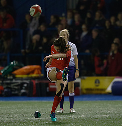 Robyn Wilkins of Wales Women coverts<br /> <br /> Photographer Simon King/Replay Images<br /> <br /> Friendly - Wales Women v Hong Kong Women - Friday  16th November 2018 - Cardiff Arms Park - Cardiff<br /> <br /> World Copyright © Replay Images . All rights reserved. info@replayimages.co.uk - http://replayimages.co.uk
