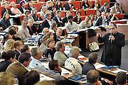 Nederland Breukelen 10 mei 2011 Seminar met Deepak Chopra over leiderschap op Nyenrode Business Universiteit.<br /> Foto: Jan Boeve