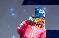 24.02.2017, Lahti, FIN, FIS Weltmeisterschaften Ski Nordisch, Lahti 2017, Damen Langlauf, 5km Sprint, Medaillen Zeremonie, im Bild Silbermedaillengewinnerin Jessica Diggins (USA) // Silver Medalist Jessica Diggins (USA) during the Medal Award Ceremony for the Ladies Cross Country Sprint competition of FIS Nordic Ski World Championships 2017. Lahti, Finland on 2017/02/24. EXPA Pictures © 2017, PhotoCredit: EXPA/ JFK