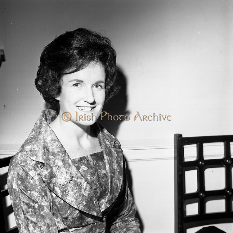 23/11/1964<br /> 11/12/1964<br /> 23 November 1964<br /> <br /> 19 Sales Girls from various parts of Ireland, at a Presentation in the Royal Hibernian Hotel <br /> <br /> Miss Ronnie Griffin, The Munster Arcade, Cork