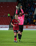 06/10/2017 - St Johnstone v Dundee - Dave Mackay testimonial at McDiarmid Park, Perth, Picture by David Young - Rab' Douglas applauds the Dundee fans