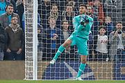 Tottenham Hotspur goalkeeper Paulo Gazzaniga (22) makes a save during the Champions League match between Tottenham Hotspur and Red Star Belgrade at Tottenham Hotspur Stadium, London, United Kingdom on 22 October 2019.