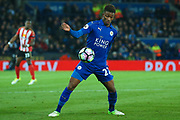 Leicester City midfielder Demarai Gray (22) in action  during the Premier League match between Leicester City and Sunderland at the King Power Stadium, Leicester, England on 4 April 2017. Photo by Simon Davies.
