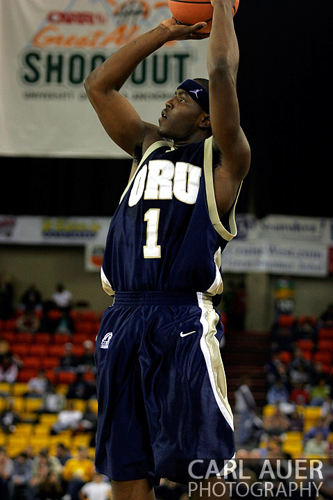 25 November 2005: ORU junior, Ken Tutt takes a shot in the 70-73 Oral Roberts University loss to Marquette University at the Great Alaska Shootout in Anchorage, Alaska