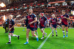 Andy Uren and the rest of the Bristol Bears team run onto the field - Mandatory byline: Patrick Khachfe/JMP - 07966 386802 - 18/10/2019 - RUGBY UNION - Ashton Gate Stadium - Bristol, England - Bristol Bears v Bath Rugby - Gallagher Premiership