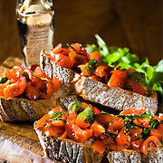 Italian Bruschetta with aged balsamic vinegarette