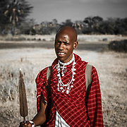 Maasai guide at Chem Chem Lodge, Tanzania. A unique and distinctive tribe in East Africa it's thought they originated from North Africa, coming down the Nile to Northern Kenya in the 15th Century