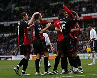 Photo: Steve Bond/Sportsbeat Images.<br />Derby County v Blackburn Rovers. The FA Barclays Premiership. 30/12/2007. Roque Santa Cruz celebrates the equaliser (arm raised)