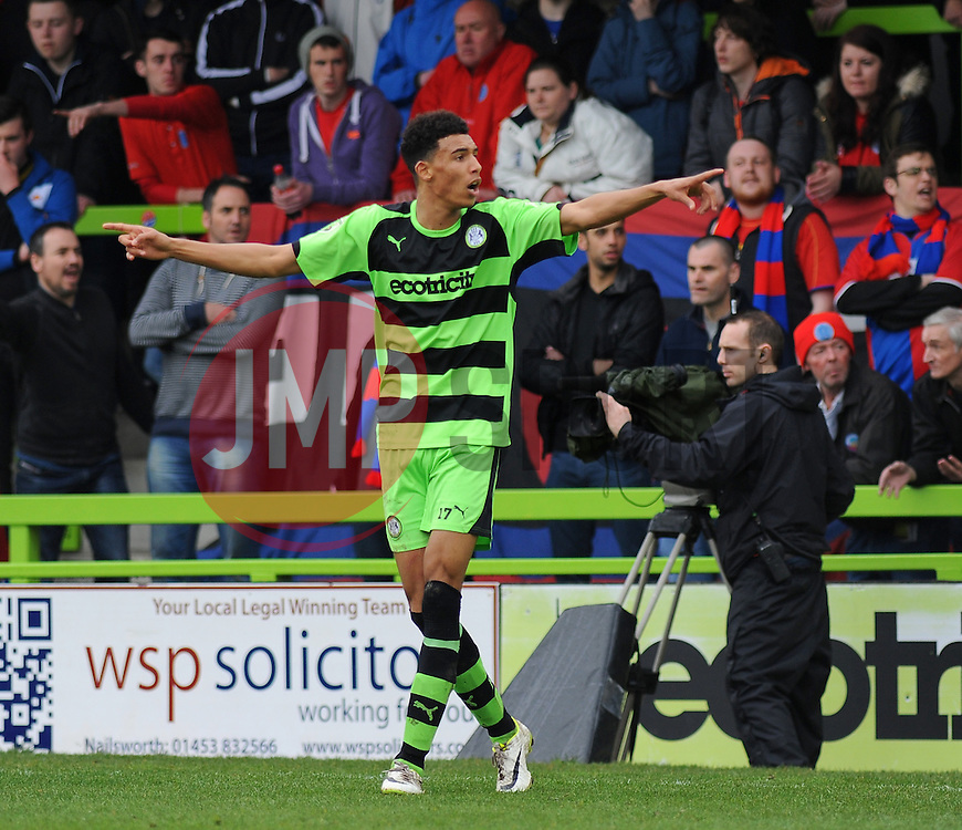 Forest Green Rovers's Kurtis Guthrie appeals for a corner kick - Photo mandatory by-line: Nizaam Jones - Mobile: 07966 386802 - 03/04/2015 - SPORT - Football - Nailsworth - The New Lawn - Forest Green Rovers v Aldershot Town - Vanarama Football Conference