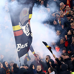 February 11, 2018 - Rome, Italy - Benevento supporters during the serie A match between AS Roma and Benevento Calcio at Stadio Olimpico on February 11, 2018 in Rome, Italy. (Credit Image: © Matteo Ciambelli/NurPhoto via ZUMA Press)