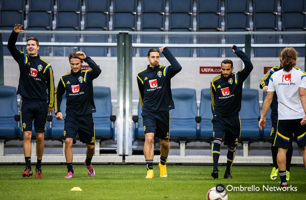 STOCKHOLM  2014-10-11<br /> LANDSLAG FOTBOLL TR&Auml;NAR P&Aring; FRIENDS ARENA<br /> ZLATAN IBRAHIMOVIC<br /> FOTO: NILS PETTER NILSSON KOD 7111