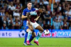 Wesley of Aston Villa takes on Michael Keane of Everton - Mandatory by-line: Robbie Stephenson/JMP - 23/08/2019 - FOOTBALL - Villa Park - Birmingham, England - Aston Villa v Everton - Premier League