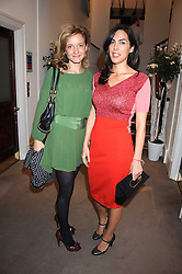 Left to right, LARA CAZALET and JESSICA DE ROTHSCHILD  at the annual Sotheby's Summer Party held at their auction rooms 34-35 New Bond Street, London W1 on 19th June 2008.<br />