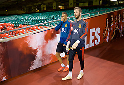 CARDIFF, WALES - Thursday, October 11, 2018: Spain's goalkeeper David de Gea during the International Friendly match between Wales and Spain at the Principality Stadium. (Pic by David Rawcliffe/Propaganda)