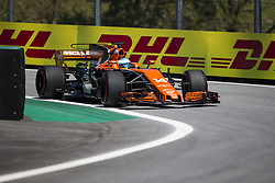 November 10, 2017 - Sao Paulo, Sao Paulo, Brazil - Nov, 2017 - Sao Paulo, Sao Paulo, Brazil - FERNANDO ALONSO/McLaren Honda. Free practice this Friday (10), for the Brazilian Grand Prix of Formula One that takes place next Sunday at the Autodromo de Interlagos in São Paulo. (Credit Image: © Marcelo Chello via ZUMA Wire)