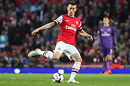 Laurent Koscielny of Arsenal during the Barclays Premier League match at the Emirates Stadium, London<br /> Picture by David Horn/Focus Images Ltd +44 7545 970036<br /> 28/04/2014