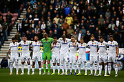Leeds United remember during the EFL Sky Bet Championship match between Wigan Athletic and Leeds United at the DW Stadium, Wigan, England on 4 November 2018.