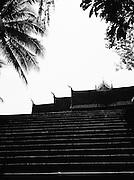 Stairs to Wat Xieng Thong.