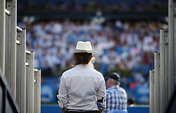 General view of a steward during day three of the 2017 AEGON Championships at The Queen's Club, London. PRESS ASSOCIATION Photo. Picture date: Wednesday June 21, 2017. See PA story TENNIS Queens. Photo credit should read: Steven Paston/PA Wire. RESTRICTIONS: Editorial use only, no commercial use without prior permission.