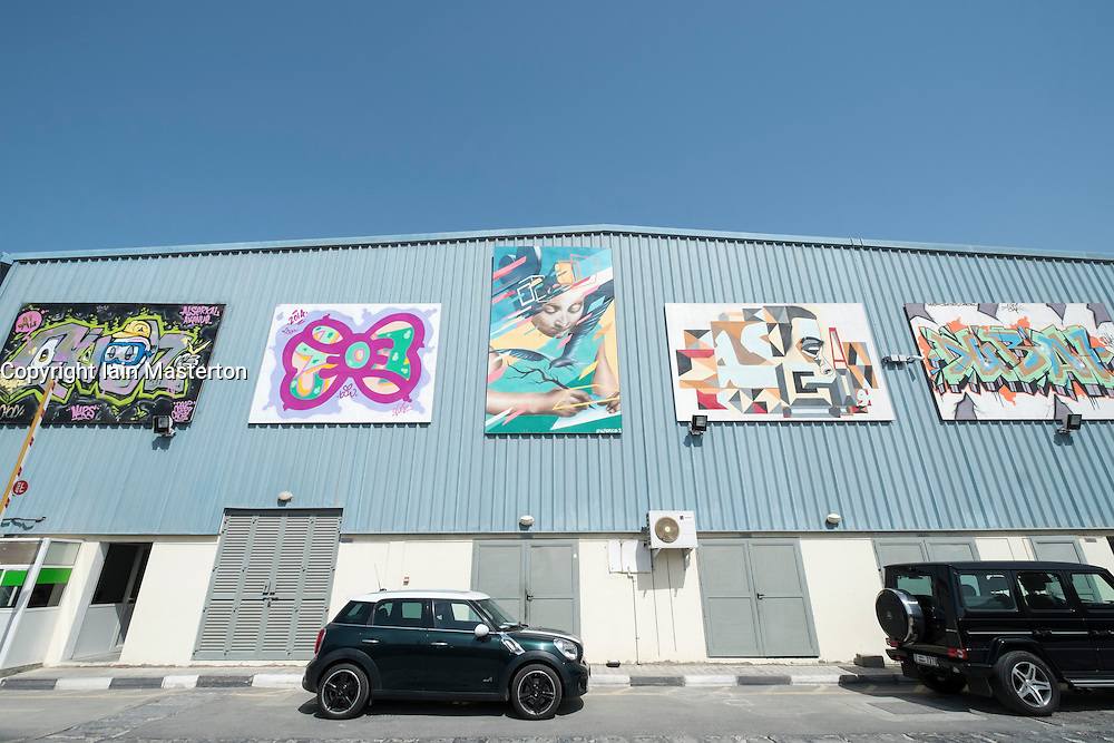 Alserkal Avenue art district in Al Quoz Dubai United Arab Emirates