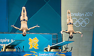 HUANG Qiang, LOMAS Bryan Nickson Malaysia.3 m. synchro springboard.Diving finals.London 2012 Olympics - Olimpiadi Londra 2012.day 06 August 1.Photo G.Scala/Deepbluemedia.eu/Insidefoto
