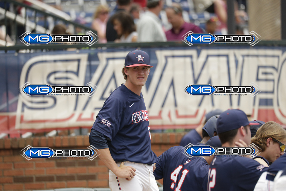 May 20, 2017; Homewood, AL, USA; Samford pitcher Connor Radcliff (23) Samford Bulldogs vs UNCG during the at Joe Lee Griffin Field. Credit: Marvin Gentry