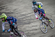 #19 during practice at the 2018 UCI BMX World Championships in Baku, Azerbaijan.