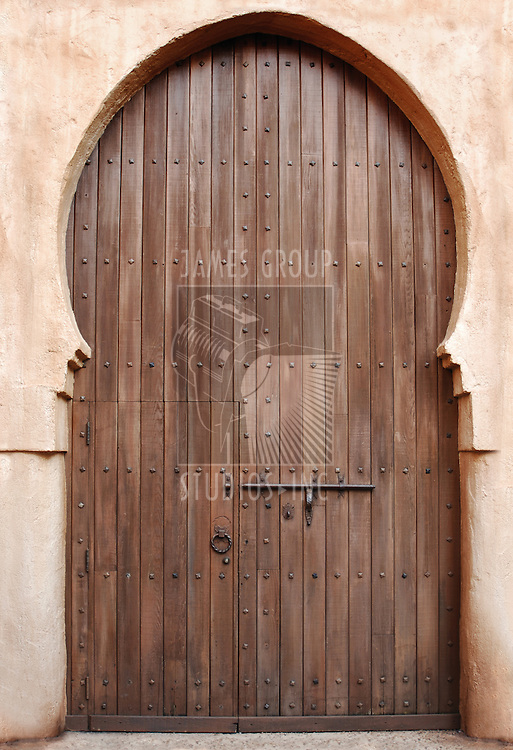 large, Moroccan, byzantine style wooden door