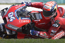 February 7, 2019 - Sepang, Malaysia - Mission Winnow Ducati's rider Andrea Dovizioso of Italy takes a corner during the second day of the 2019 MotoGP pre-season testing at Sepang International Circuit February 7, 2019. (Credit Image: © Zahim Mohd/NurPhoto via ZUMA Press)