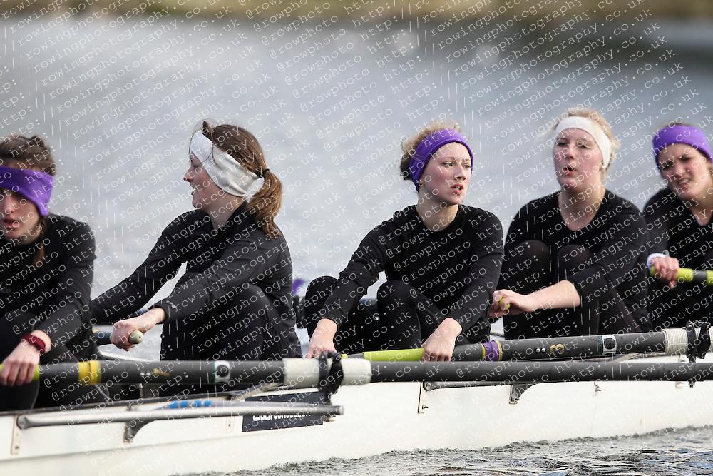 2012.02.25 Reading University Head 2012. The River Thames. Division 1. Reading University Boat Club B WNov 8+