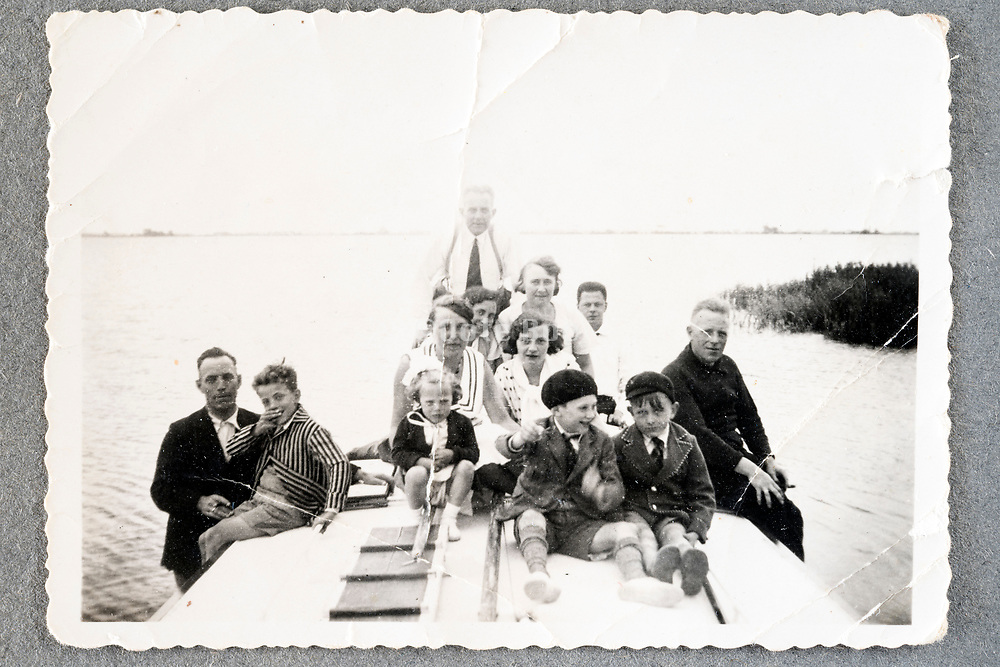 family summer vacation on the boat ca 1950s Holland