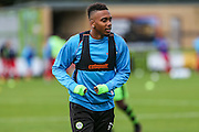 Forest Green Rovers Keanu Marsh-Brown(7) warming up during the Vanarama National League match between Forest Green Rovers and Barrow at the New Lawn, Forest Green, United Kingdom on 1 October 2016. Photo by Shane Healey.