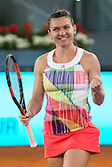 Simona Halep during the Madrid Open at Manzanares Park Tennis Centre, Madrid<br /> Picture by EXPA Pictures/Focus Images Ltd 07814482222<br /> 07/05/2016<br /> ***UK & IRELAND ONLY***<br /> EXPA-ESP-160507-0020.jpg
