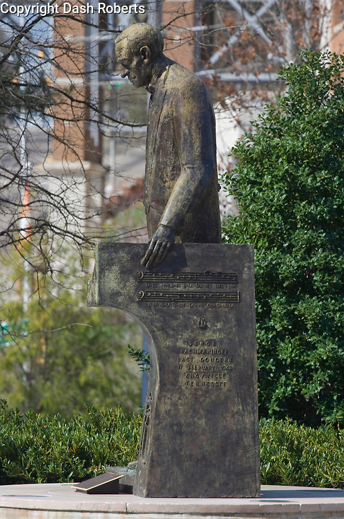 Statue of Russian pianist Sergei Rachmaninoff located in World's Fair Park in Knoxville, Tennessee commemorates..his last concert performance on February 17, 1943.