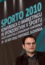 Matevz Zupancic of KK Union Olimpija during Day two of Sporto  2010 - Sports marketing and sponsorship conference, on November 30, 2010 in Hotel Slovenija, Portoroz/Portorose, Slovenia. (Photo By Vid Ponikvar / Sportida.com)