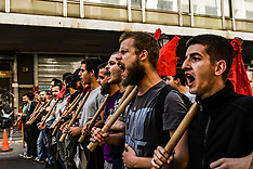 Students protest against newly announced educational reforms, Athens, 24 October 2019