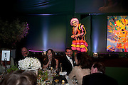 BARRY HUMPHRIES, The Ormeley dinner in aid of the Ecology Trust and the Aspinall Foundation. Ormeley Lodge. Richmond. London. 29 April 2009