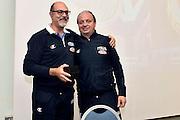 Giovanni Lucchesi, Andrea Capobianco<br /> Stelle d'Argento a Lucca. Premiazione Under 17 e Under 20 Femminili<br /> FIP 2016<br /> Lucca, 18/11/2016<br /> Foto Ciamillo - Castoria