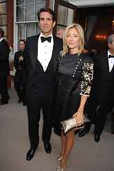 CROWN PRINCE PAVLOS and PRINCESS MARIE CHANTAL OF GREECE at the Ark 2007 charity gala at Marlborough House, Pall Mall, London SW1 on 11th May 2007.<br />